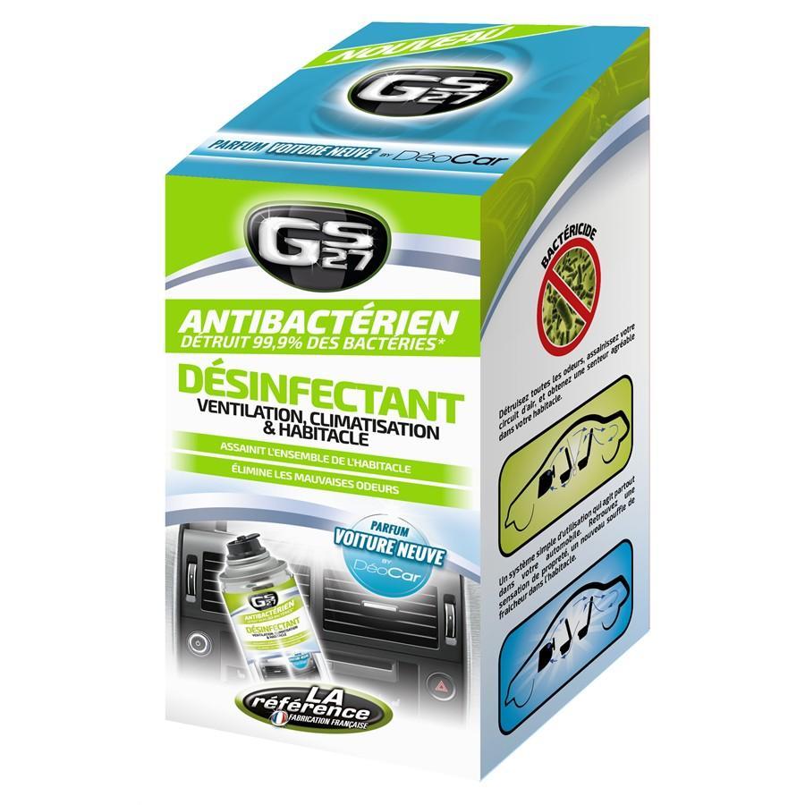 Nettoyant desinfectant climatisation et habitacle gs27